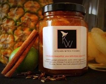 Gourmet Jams and Jellies, Pineapple Jam with Rum, Hand Crafted Jam, Best Made Jam, Fresh Made Jam, Pineapple Preserves, Home Made Jam