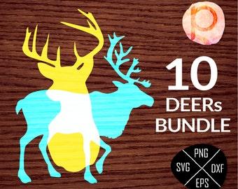 Christmas Antlers Deer SVG bundle*Antlers Deer Head SVG*Antlers Deer svg Bundle*Deer clipart,eps,dxf,png,jpg*Cutting Files*Cricut*Silhouette