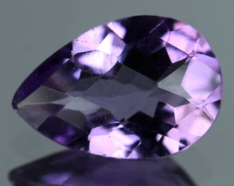 3.27 Ctw Dazzling Pear Luster  Best Selling Natural Amethyst