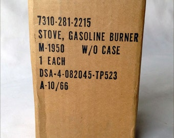 REDUCED Coleman Stove Gasoline Burner without Case NOS Sealed