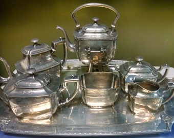 1911 Whiting  Theodore B Starr Co New York Sterling Silver Tea and  Coffee Serving Set 11698-1 dbw