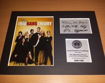 The Big Bang Theory - Sheldon Penny Leonard Howard Raj Amy Bernadette - Signed Autograph Display - Fully Mounted and Ready To Be Framed