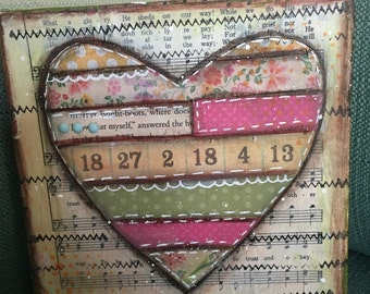 Quilted Heart Canvas