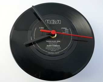 "Eurythmics- 'Thorn In My Side' 7"" Record Clock"