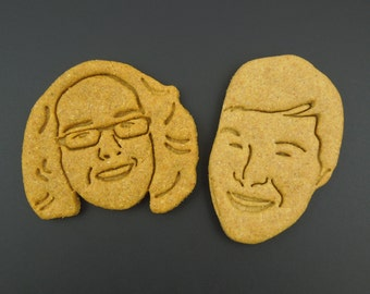 Custom Cookie Cutter Of Your Face 3D Printed Personalised Christmas Cookie Cutter With Your Image or Portrait - Gift for Bakers