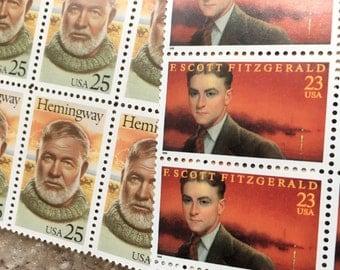Vintage Unused US Postage - Writers - Enough for 10 letters