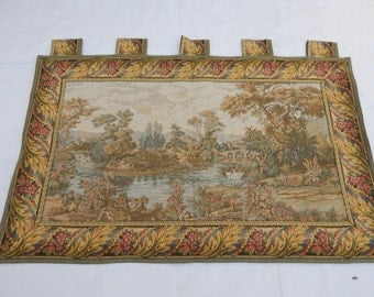 Vintage French Beautiful Stream Tapestry 030