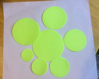 DIE CUTOUTS - Circles - Sturdy Card Stock - Set of seven (7) in seven sizes.
