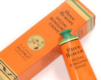 RICHARD HUDNUT · Berlin NY · three flowers · Cleansing cream box brochure