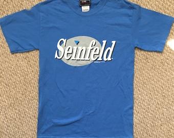 Seinfeld Shirt Size Small NBC Kramer Jerry George Elaine Blue Vintage 1996 90s T-Shirt