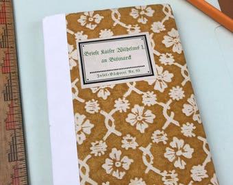 Pocket notebook, Field notebook, upcycled notebook, vintage ledger paper