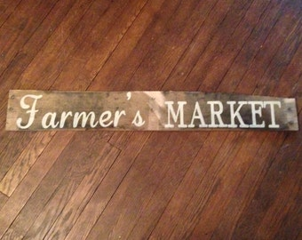 Farmers Market - primitive rustic wooden sign