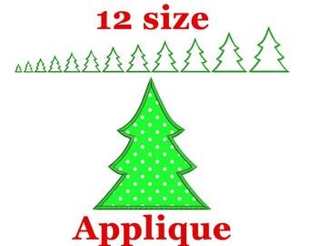 christmas applique etsy - Christmas Tree Applique