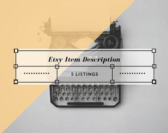 Etsy Listing Help - Edit and Overview - 5 Items