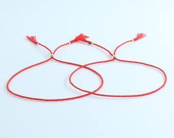 couple red string of fate 14K GOLD FILLED luck bracelets Bendel, wedding Bracelet, Israel Bracelet, Jewish,his and her Jewelry , Do Good