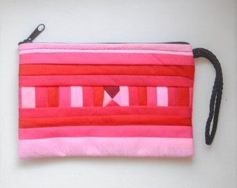 pouches and coin purses RED and PINK colorful small bag Zipper clutch wallet phone case
