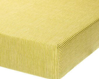 Fully Elastic Fitted Crib Sheet Green