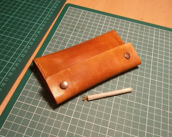 Handmade, Leather, Tobacco Pouch, Hand Stitched, Full Grain