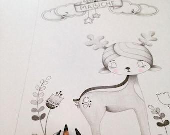My deer illustration