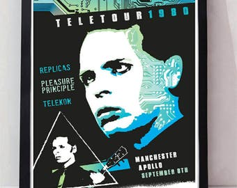 Gary numan reimagined drawn unframed gig poster. Specially created.