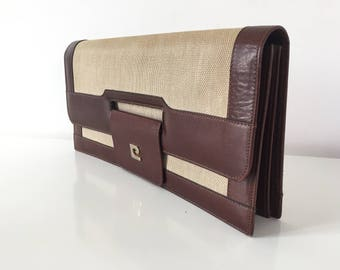 Vintage Pierre Cardin leather and canvas cover