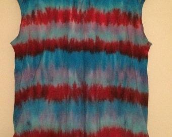 Women's Tye Dye Fruit of the Loom XL Tank top T Shirt