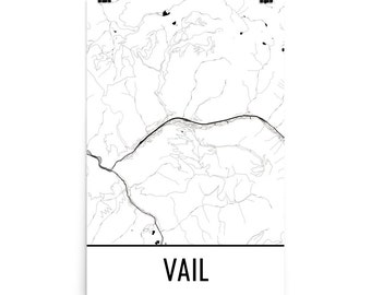 Vail Map, Vail Art, Vail Print, Vail Colorado Poster, Vail Wall Art, Map of Vail CO, Vail Gift, Vail Poster, Vail Decor, Vail Map Art, Print