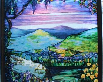 Louis Comfort Tiffany Majestic Dawn The Duncan Hegardt Memorial Window Glassmasters Reproduction