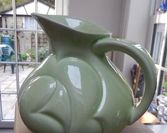 Royal Art Pottery 1930s Modernist, Art Deco, Lomston Vase, Green Vase/Jug Stylistic, Vintage Vase, Retro Jug, Flower Jug,
