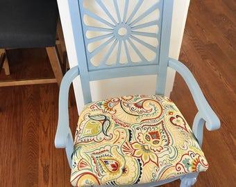 Shabby Coastal Blue Chair