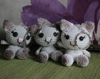 Cat Amigurumi, Crochet Cat, Cat Plushie, Cat Plush, Kawaii Cat, Mini Cat Round Cat, Little Animal Plush, Cat Keychain, stuffed animal