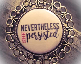 Nevertheless She Persisted, Necklace, Nevertheless She Persisted Jewelry, Pendant, Persisted, She Persisted, Elizabeth Warren, Strong Women