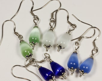 Teardrop Catseye Earrings