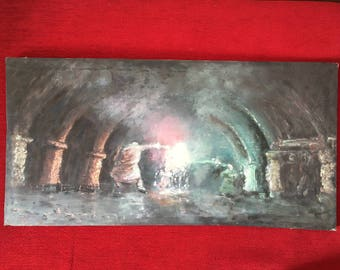 Harry Potter Oil Painting - Dumbledore vs Voldemort