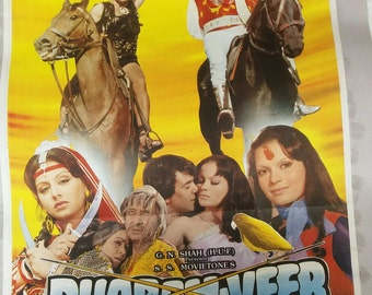 1970 bollywood movie poster Free shipping.