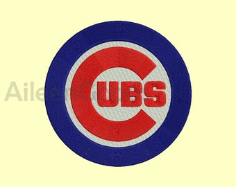 Chicago Cubs Embroidery design 4 Size  INSTANT download machine embroidery