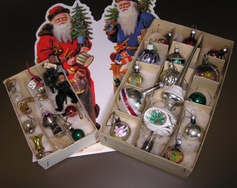 Vintage Doll House Christmas Ornaments - 50's
