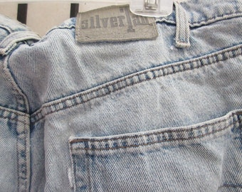 levi shorts, silver tab, size 38 waist, great condition, mildwash, faded,