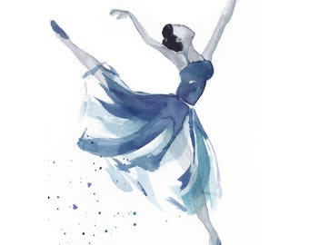 Watercolour dancer