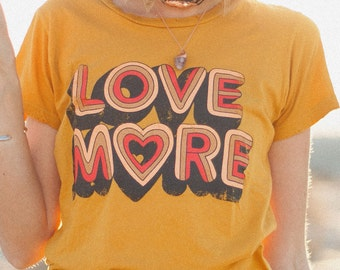 Peace and love, Positive graphic tee, Love more,Vintage Tee, Peace,Love forever, graphic tee womens, Vintage style, Love peace, love shirt,