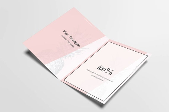 eBook Template Custom | Pink Pineapple | Customizable eBook Template | Google Docs / Windows Word DOCX / Mac Pages / A4 / Letter Available