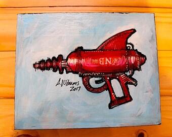 Original artwork, Pop art, retro toy gun