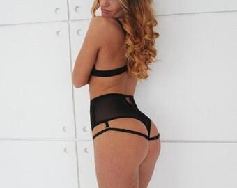High Panties, lace panties, lingerie, sexy panties, handmade lingerie, sexy lingerie, lace lingerie, black lace, erotic set, black lingerie