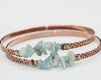 Bracelet band chips chrysoprase gold pink/natural stone / fine gemstone jewelry / gemstone bracelet