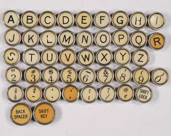 Typewriter Key Flat Back Vintage Antique 1922 Remington Standard Your Choice ref006