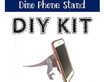 DIY Dinosaur Tail Phone Stand Kit - for iPhone, Android, any cellphone, phone accessory, desk gadget, dino butt stand, boyfriend gift