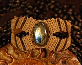 Macramè bracelet with Labradorite