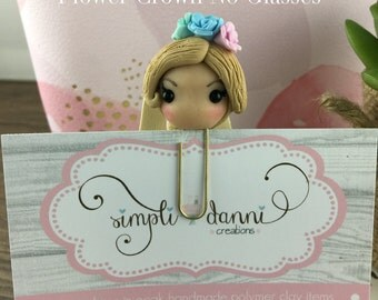 Blonde Planner Girl  Planner Clip, Paperclip, Bookmark, Polymer Clay