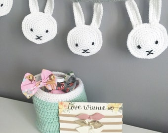 MADE TO ORDER - Crochet Nursery Basket