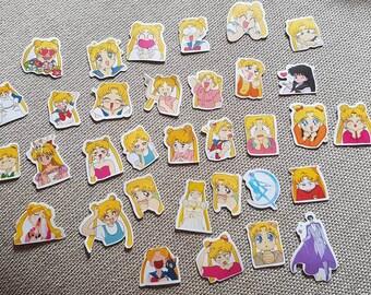 Confezione 33 stickers Sailor Moon!